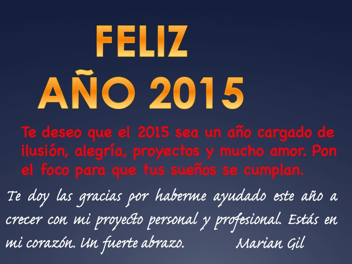 Momentos de buenos deseos, de reflexión y de enfocarnos hacia el 2015