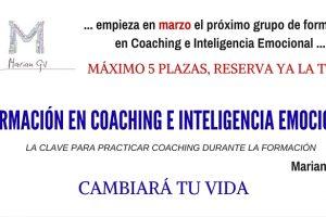 Curso de Formación en Coaching e Inteligencia Emocional bajo un método que está probado y funciona. El Método diseñado por Marian Gil. Próxima convocatoria en Marzo