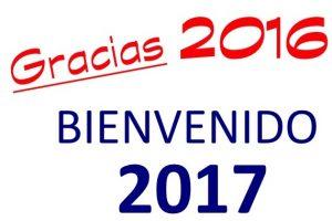 Agradecimiento al 2016 y Bienvenida al 2017