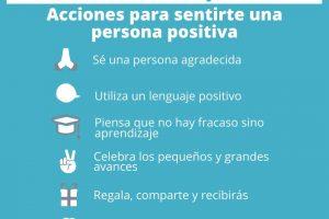 Acciones para sentirte una persona positiva